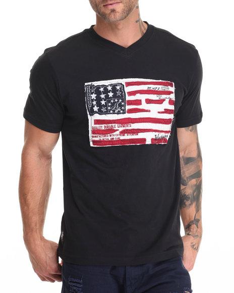 Winchester - Men Black Walker American Flag T-Shirt