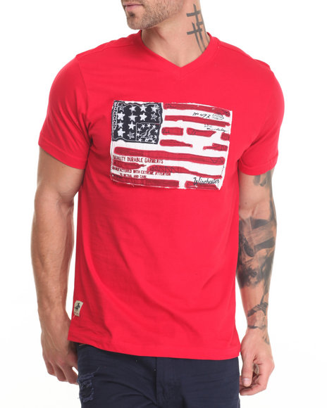 Winchester - Men Red Walker American Flag T-Shirt