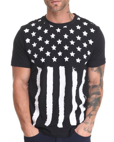 Winchester - Men Black Ford American Flag T-Shirt