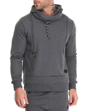 Men - Hoodie with Zip Quilted Detail