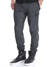 Men - Quilted  Nylon Knee Detail Jogger