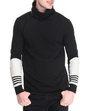 Men - Hi Neck 4 Stripe L/S Tee