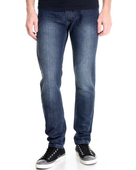 Basic Essentials - Men Medium Wash Freestyle Basic Denim Jeans