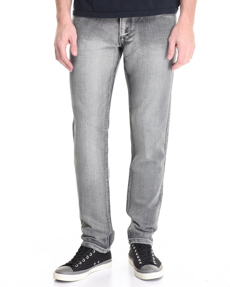 Basic Essentials - Men Grey Freestyle Basic Denim Jeans
