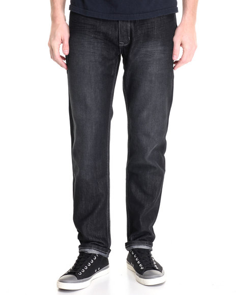 Basic Essentials - Men Black Freestyle Basic Denim Jeans