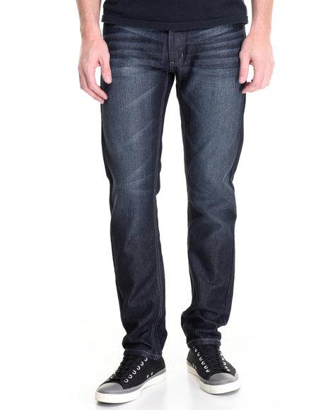Basic Essentials - Men Dark Wash Freestyle Basic Denim Jeans