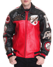 Leather Jackets - Revolution Large Croc Leather Jacket