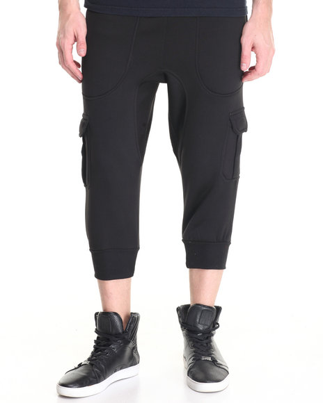 Buyers Picks - Men Black Crop Cargo Jogger