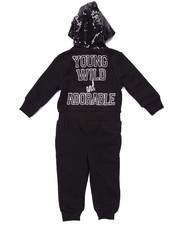 Girls - FLEECE JUMPSUIT W/ SEQUIN HOOD (2T-4T)
