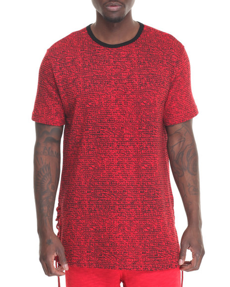 Hudson Nyc - Men Red Laced S/S Tee