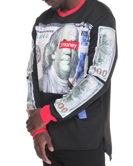 Hudson Nyc - Men Black Get Smoney Crewneck Sweatshirt - $69.99