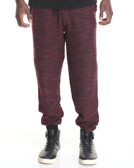 Akademiks - Men Maroon Commanco Texture Specialty Knit Jogger