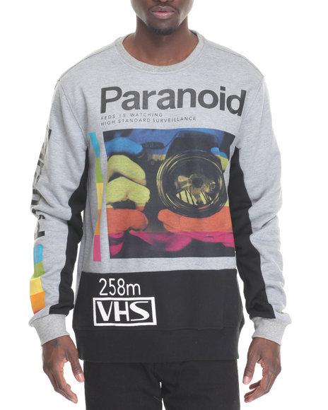 Hudson Nyc - Men Grey Paranoid Crewneck Sweatshirt