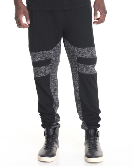 Hudson Nyc - Men Black Laced Joggers