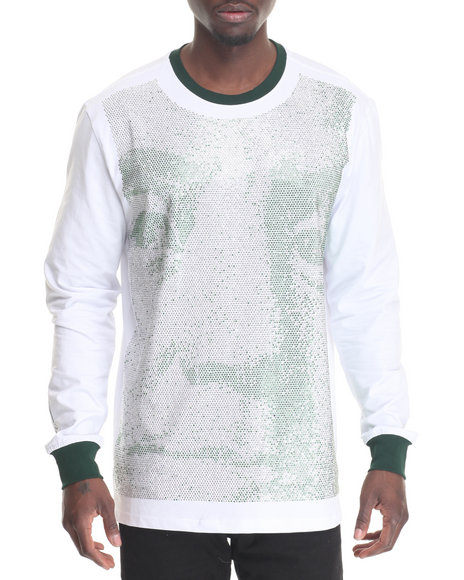 Hudson Nyc - Men Silver,White Big Face L/S Tee