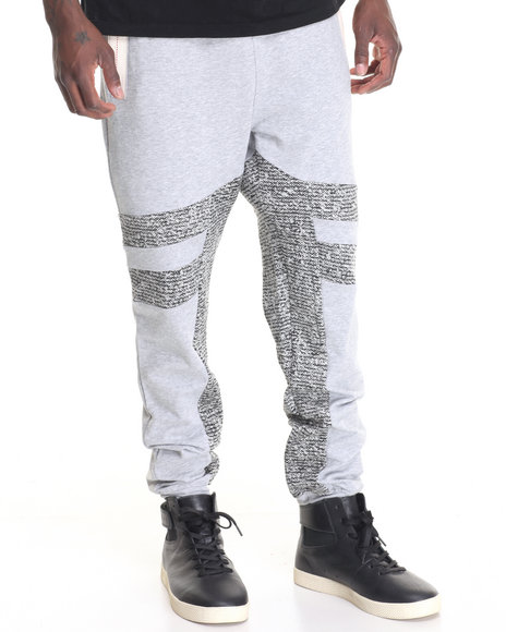 Hudson Nyc - Men Grey Laced Joggers