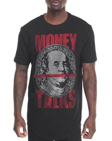 Hudson Nyc - Men Black Money Talk S/S Tee - $60.00