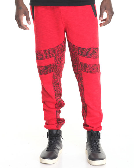 Hudson Nyc - Men Red Laced Joggers
