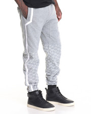 Jeans & Pants - Geometric Jogger w Tape Detail