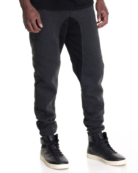 Buyers Picks - Men Charcoal Contrast Gusset Jogger