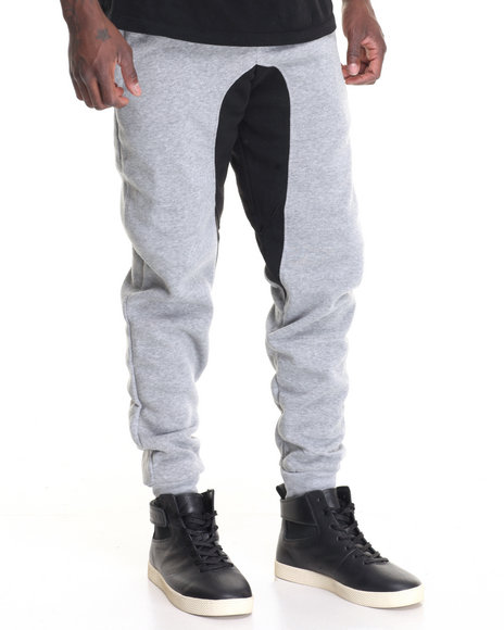 Buyers Picks - Men Grey Contrast Gusset Jogger