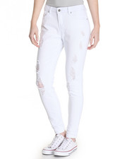 Bottoms - Destructed Skinny Crop Skinny Jean