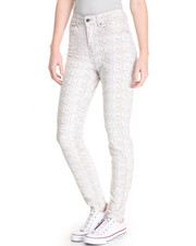 Bottoms - Alexis Snakeprint Stretch Skinny Jean Jean