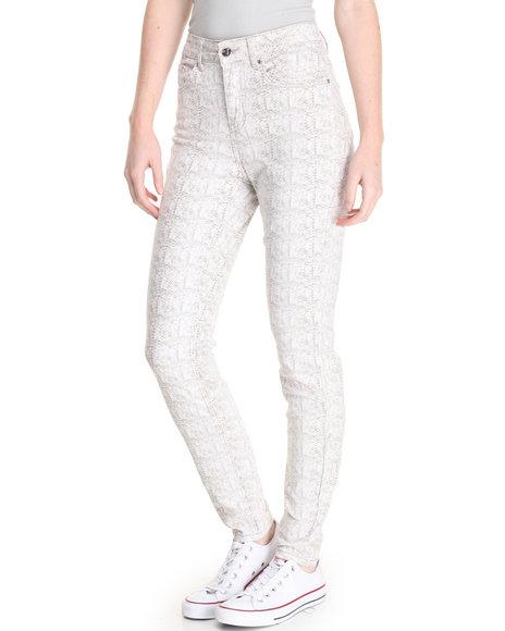 Versace 19.69 - Women Animal Print Alexis Snakeprint Stretch Skinny Jean Jean