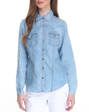 Tops - Denim Western Shirt