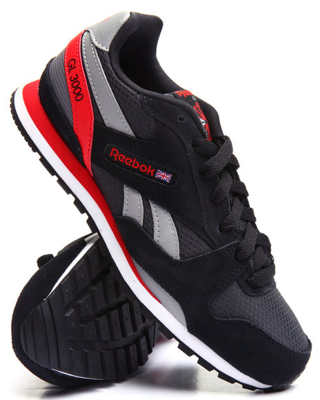Reebok - Boys Black Gl 3000 Sneakers (3.5-7)