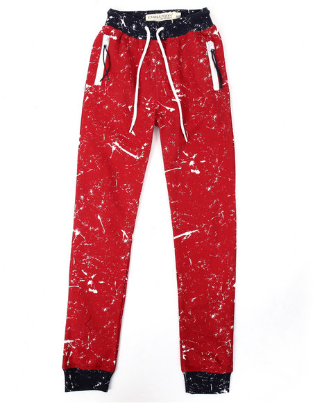 Arcade Styles - Boys Red Evolution Joggers (8-20)