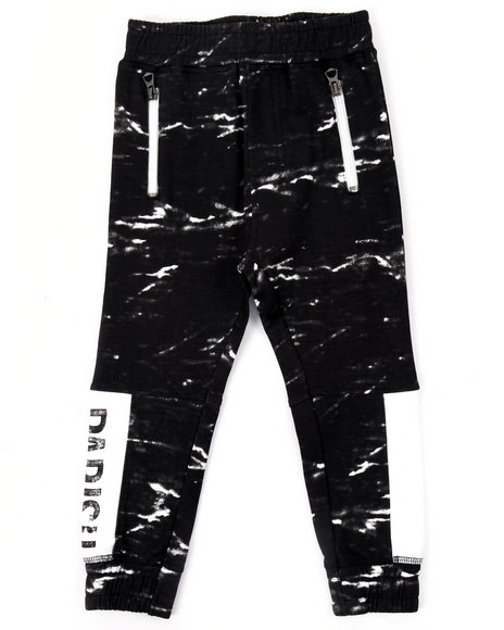 Parish - Boys Black French Terry Heritage Joggers (2T-4T) - $29.99