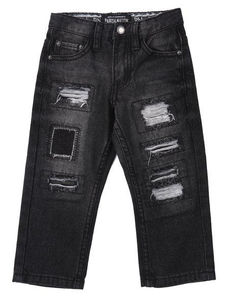 Parish - Boys Black Rip & Tear Heritage Jeans (2T-4T)