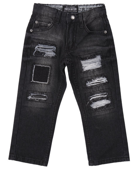 Parish - Boys Black Rip & Tear Heritage Jeans (4-7)