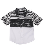 Boys - S/S PRINTED HERITAGE WOVEN (4-7)