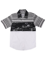 Boys - S/S PRINTED HERITAGE WOVEN (8-20)