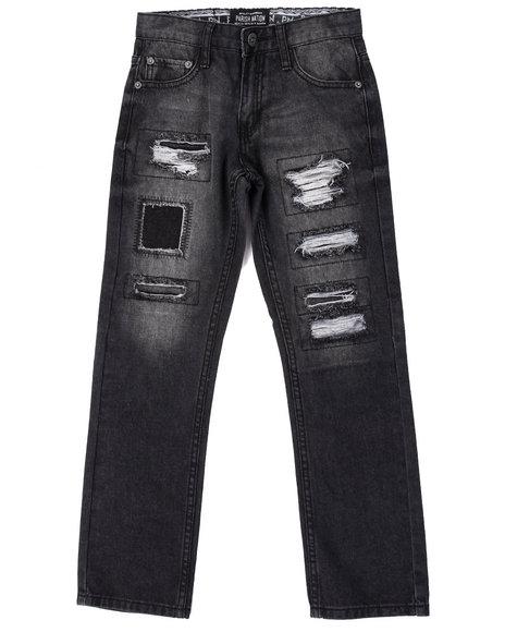 Parish - Boys Black Rip & Tear Heritage Jeans (8-20)