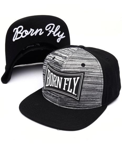 Born Fly Men Cobblestone Snapback Cap Black