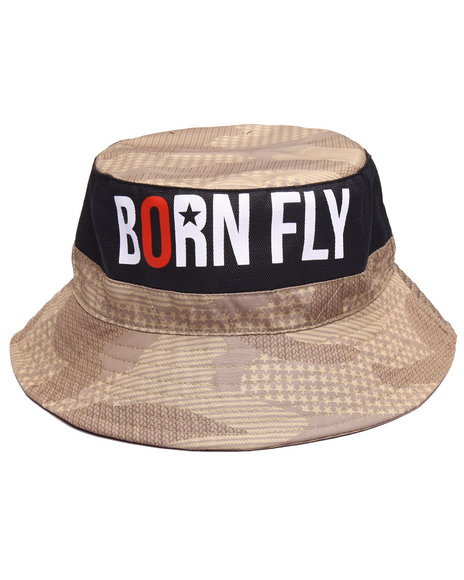 Born Fly Men Mangrove Bucket Hat Khaki SmallMedium