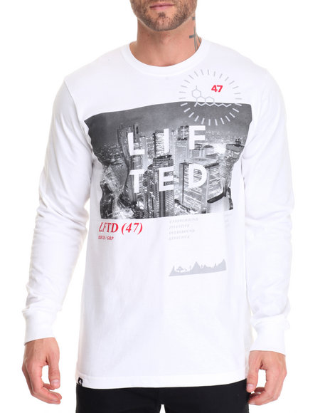 Lrg Men High City Life L/S T-Shirt White Medium