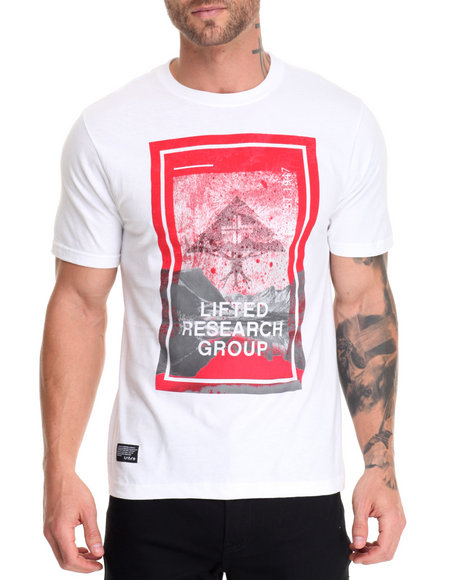 Lrg - Men White Stellar Scape T-Shirt