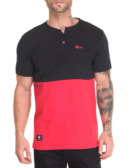 Lrg - Men Black Systematic Henley