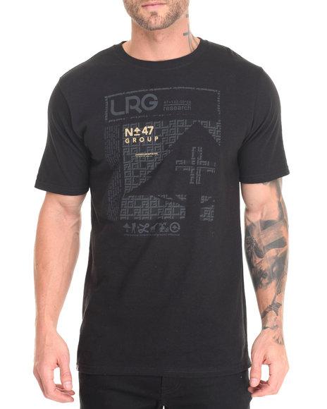 Lrg Men Lrg Gridlock Box T-Shirt Black Large