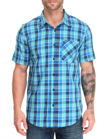 Lrg Men Reverb S/S Button-Down Green X-Large