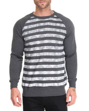 Basic Essentials - Medallion French Terry Printed Raglan Crew Neck Sweatshirt