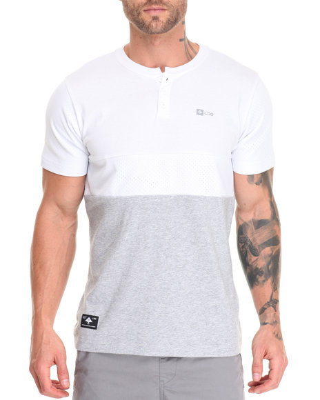 Lrg - Men White Systematic Henley