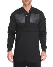 T-Shirts - Militant 3 - Button Tunic