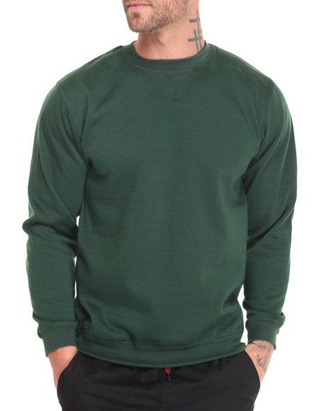 Basic Essentials Men L/S Crewneck Sweatshirt Green Large