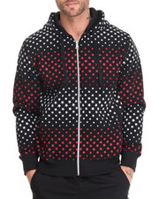 Basic Essentials - Stars Fleece Printed Full-Zip Hoodie