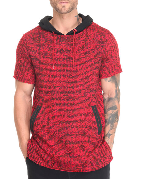 Hudson Nyc - Men Red Laced S/S Hoodie